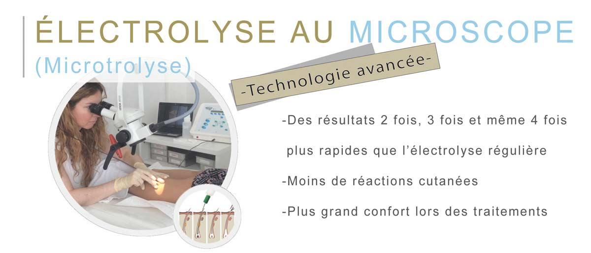 Électrolyse au microscope microtrolyse  -Technologie avancée-